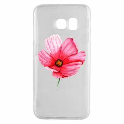 Чехол для Samsung S6 EDGE Poppy flower