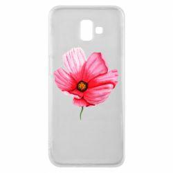 Чехол для Samsung J6 Plus 2018 Poppy flower