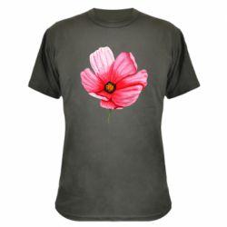 Камуфляжная футболка Poppy flower