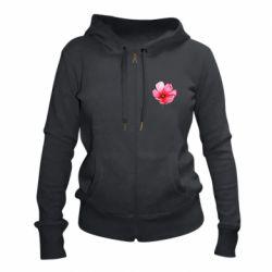 Женская толстовка на молнии Poppy flower