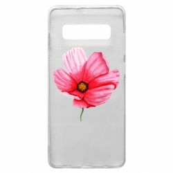 Чехол для Samsung S10+ Poppy flower