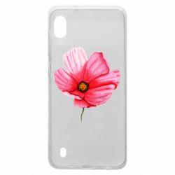 Чехол для Samsung A10 Poppy flower