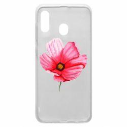 Чехол для Samsung A20 Poppy flower