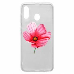 Чехол для Samsung A30 Poppy flower