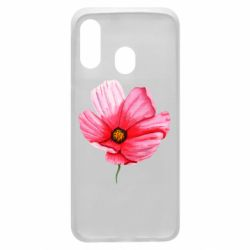 Чехол для Samsung A40 Poppy flower