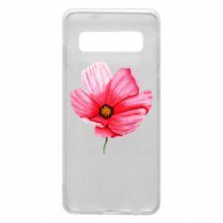 Чехол для Samsung S10 Poppy flower