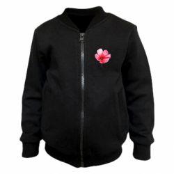 Детский бомбер Poppy flower