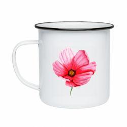 Кружка эмалированная Poppy flower
