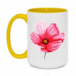 Кружка двухцветная 420ml Poppy flower