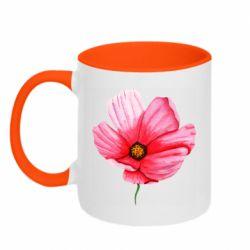 Кружка двухцветная 320ml Poppy flower