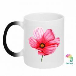 Кружка-хамелеон Poppy flower