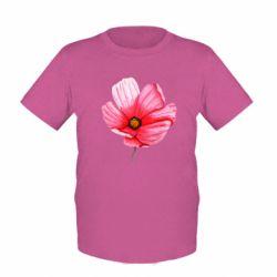 Детская футболка Poppy flower