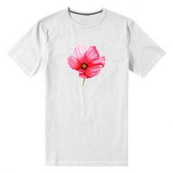 Мужская стрейчевая футболка Poppy flower