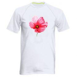 Мужская спортивная футболка Poppy flower