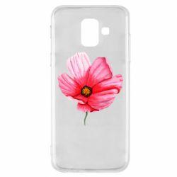 Чехол для Samsung A6 2018 Poppy flower