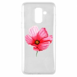 Чехол для Samsung A6+ 2018 Poppy flower