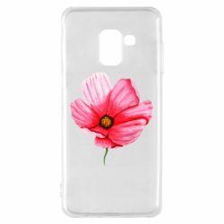 Чехол для Samsung A8 2018 Poppy flower