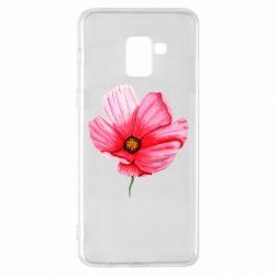 Чехол для Samsung A8+ 2018 Poppy flower