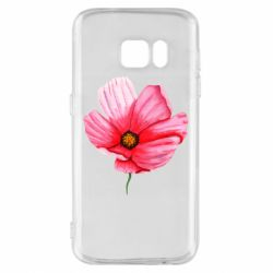 Чехол для Samsung S7 Poppy flower