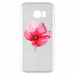 Чехол для Samsung S7 EDGE Poppy flower