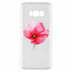 Чехол для Samsung S8 Poppy flower
