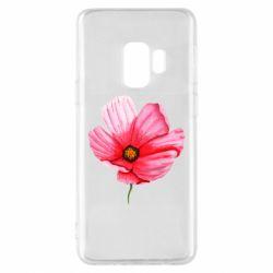 Чехол для Samsung S9 Poppy flower
