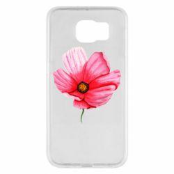Чехол для Samsung S6 Poppy flower