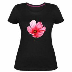 Женская стрейчевая футболка Poppy flower