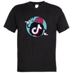 Чоловіча футболка з V-подібним вирізом Dancing Tik tok