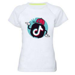 Жіноча спортивна футболка Dancing Tik tok