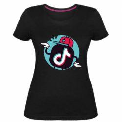 Жіноча стрейчева футболка Dancing Tik tok
