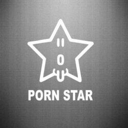 Наклейка porn star - FatLine