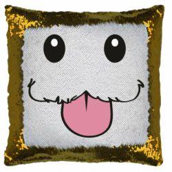 Подушка-хамелеон Poro Camiseta lol