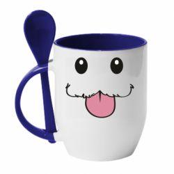 Кружка з керамічною ложкою Poro Camiseta lol