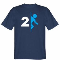 Мужская футболка Portal 2 logo