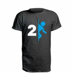 Удлиненная футболка Portal 2 logo