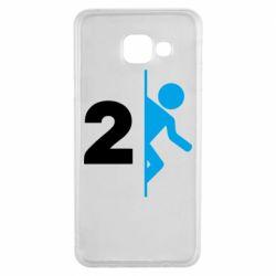 Чехол для Samsung A3 2016 Portal 2 logo