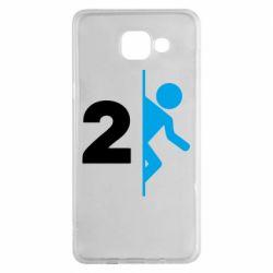 Чехол для Samsung A5 2016 Portal 2 logo