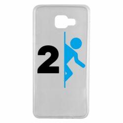 Чехол для Samsung A7 2016 Portal 2 logo
