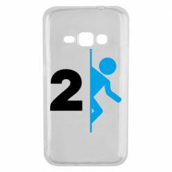 Чехол для Samsung J1 2016 Portal 2 logo