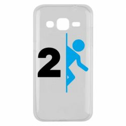 Чехол для Samsung J2 2015 Portal 2 logo