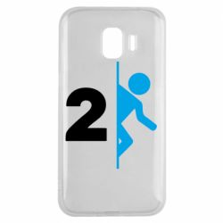 Чехол для Samsung J2 2018 Portal 2 logo