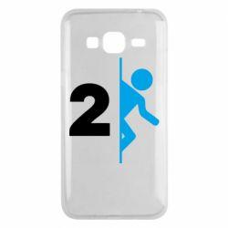 Чехол для Samsung J3 2016 Portal 2 logo