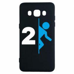Чехол для Samsung J5 2016 Portal 2 logo