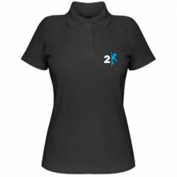 Женская футболка поло Portal 2 logo