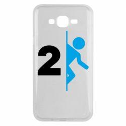 Чехол для Samsung J7 2015 Portal 2 logo
