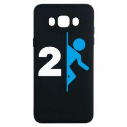 Чехол для Samsung J7 2016 Portal 2 logo