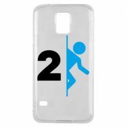 Чехол для Samsung S5 Portal 2 logo