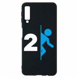 Чехол для Samsung A7 2018 Portal 2 logo