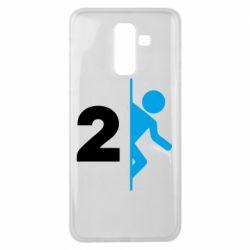 Чехол для Samsung J8 2018 Portal 2 logo